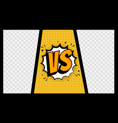 Versus vs letters fight in comics style in frame vector