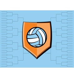 Volleyball Icon Bracket vector image