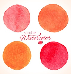 Watercolor painted splash circles vector