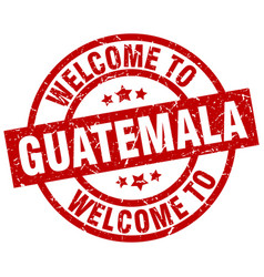 welcome to guatemala red stamp vector image