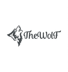 Wolf howling the moon in style of tattoos flat vector