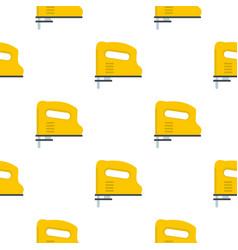 Yellow pneumatic gun pattern flat vector