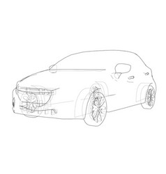 car outline drawing vector image