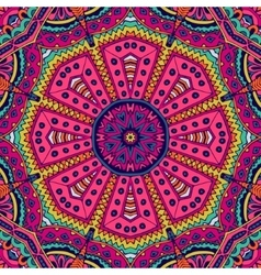 seamless pattern ethnic mandala ornament vector image