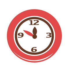 simple red clock vector image vector image