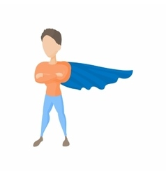 Superhero icon in cartoon style vector image