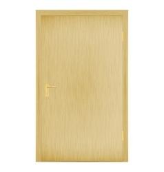 a closed wooden door vector image