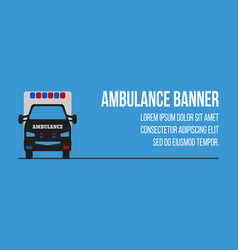 ambulance logos and banners vector image vector image