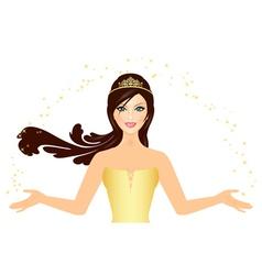 beautiful Princess in gold vector image vector image