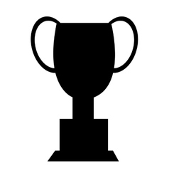 black trophy icon front view graphic vector image