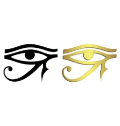 Eye of Horus in black and gold vector image vector image