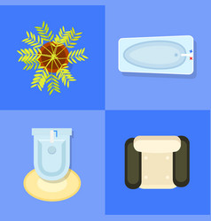 indoor furniture icons set vector image vector image