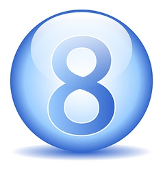 Number eight button vector image vector image