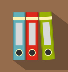 red green blue office folders icon flat style vector image vector image