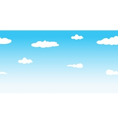 Seamless sky at daytime vector image