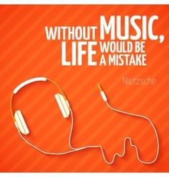 Bright headphones music wallpaper background vector image vector image