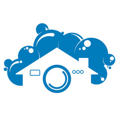 cleaning a house symbol vector image vector image