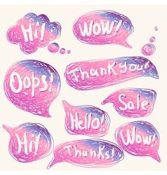 Comics dialog bubbles vector image