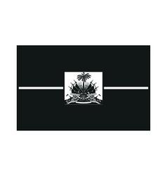 Haiti flag monochrome on white background vector image vector image