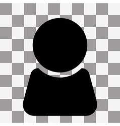 Man icon on transparent vector image