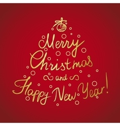 Merry Christmas and happy new year handmade vector image vector image