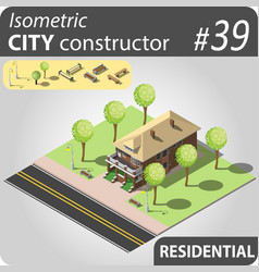 modern isometric house vector image