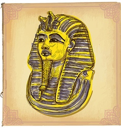 Tutankhamun - An hand drawn sketch freehand vector image