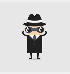detective with binocular vector image vector image