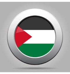 metal button with flag of Palestine vector image vector image