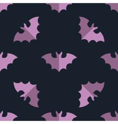 Seamless bat background tile halloween pattern vector image
