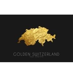 Switzerland map Golden Switzerland logo Creative vector image