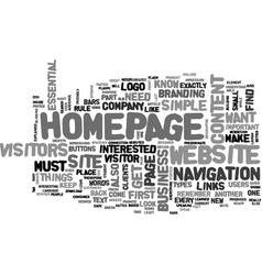 what your website s homepage needs to have text vector image vector image