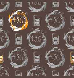 45g connection the standard of communication in vector image