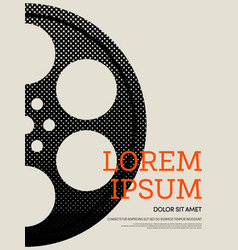 abstract movie and film modern retro vintage vector image