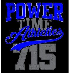 Athletics college department vector