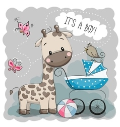 Baby carriage and Giraffe vector