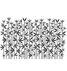 bamboo decorative black background vector image