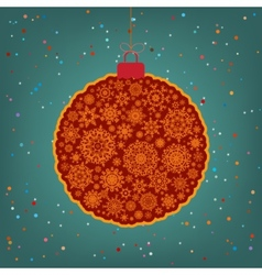 Beautiful Christmas ball EPS 8 vector