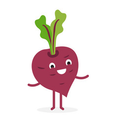 beetroot cute vegetable character vector image