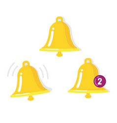 bell icon sen ring call and notification symbol vector image