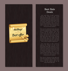 best sale deal discount voucher holiday best offer vector image