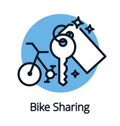Bike sharing share economy for better ecology vector