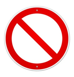 Blank Forbidden Sign vector