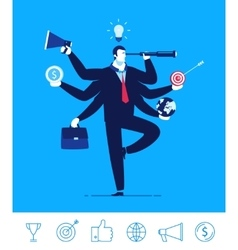 Business concept businessman vector