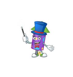 Cartoon character dot fireworks rocket magician vector