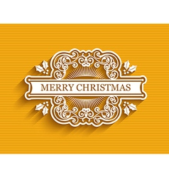 Christmas typographic label vector