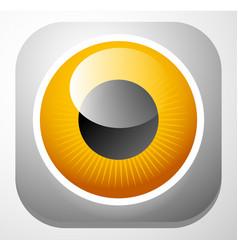 colorful eye - eyeball icons - vision aesthetics vector image