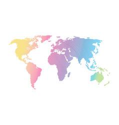 concept world communication network technology vector image