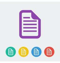 document flat circle icon vector image