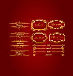 elegant restaurant menu vector image
